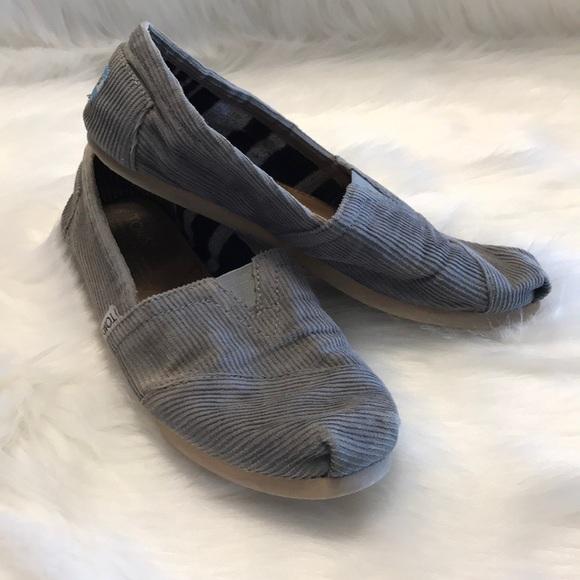 478dd2a676f Toms Shoes - TOMS Corduroy Gray Classic Alpargatas Flats - 6.5